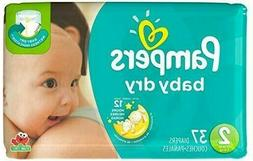 Pampers Baby Dry Diapers  Size 2  *Free Priority 2 day Ship