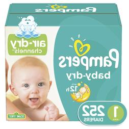 Pampers Baby Dry Diapers *Size 1, 2, 3, 4, 5, 6 You Choose *