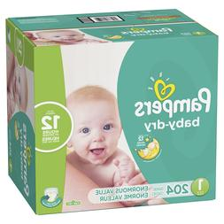 baby dry diapers size 1 204 count