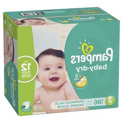 Pampers Baby-Dry Diapers Size 2 186 Count