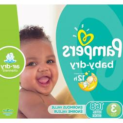 Pampers Baby-Dry Diapers Size 3, 168 Count*BEST SHIPPING AND