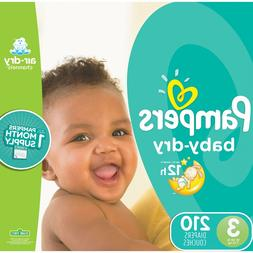 Pampers Baby-Dry Diapers Size 3 210 Count