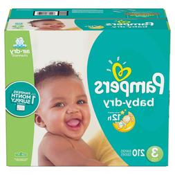 Pampers Baby Dry Diapers Size 3 - 210 ct. for babies weigh 1