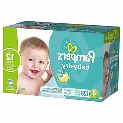 baby dry diapers size 4 128 count