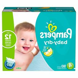 baby dry diapers size 4 186 ct