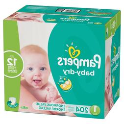 Pampers Baby Dry Disposable Diapers Enormous Pack Size 1
