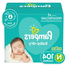 Pampers Baby Dry Disposable Diapers *Newborn, 1, 2, 3, 4, 5,