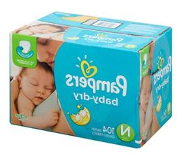 Pampers Baby-Dry Disposable Diapers Newborn Size 0, 104 Coun