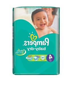 Pampers Baby-Dry Disposable Diapers Size 4  *Free 2 day ship