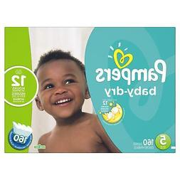 baby dry disposable diapers size 5 160