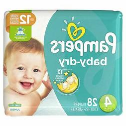 Pampers Baby-Dry Size 4 Diapers 12 Hour Dryness Sesame Stree