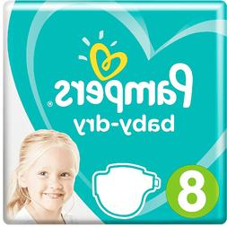 Pampers Baby Dry Size 8 Sample 5x Diapers All New Size Impor