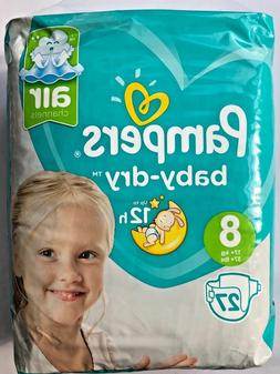 Pampers Baby Dry Size 8 Sample x2 Diapers Discrete Shipping