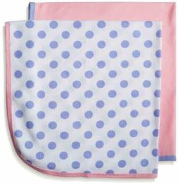 Gerber Baby Girls' 2 Pack Thermal Blankets, Polka Dots, One
