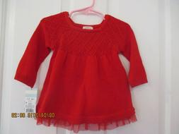 baby girls Cat & Jack size 3-6 months sweater dress and diap