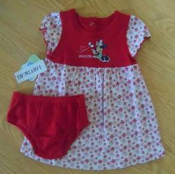 Baby girls size 3-6 months or 6-9M Disney Minnie Mouse dress