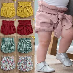 Baby Girls  Toddler Cotton Linen Shorts PP Pants Nappy Diape