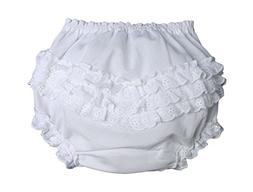 Little Things Mean A Lot Baby Girls White Elastic Bloomer Di