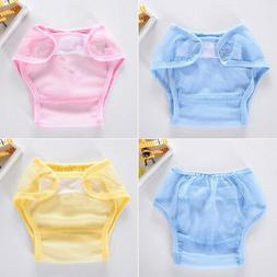 Baby Infant Solid Gauze Ventila Cloth Diapers Reusable Nappy