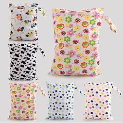 Baby Infant Washable Nappy Storage Bag Diaper Bags Wet Dry C