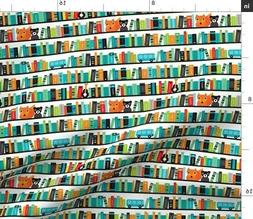 Baby Library School Books Kids Shelf Fox Abc Fabric Printed