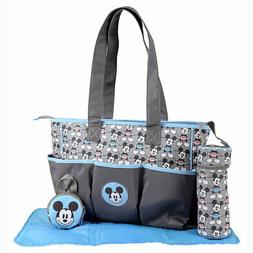 Disney Baby Mickey Mouse 4 pcs Diaper Bag, Bottle & Pacifier