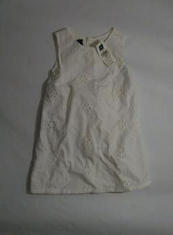 Baby GAP New Toddler Girls White Embroidered Dress W/ Diaper