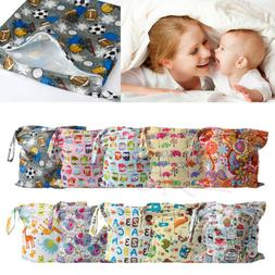 Baby Protable Nappy Washable Nappy Wet Dry Cloth Zipper Wate