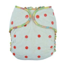 Alva Baby Reusable Bamboo Fitted Diaper Sewn-in 3 Layer Bamb