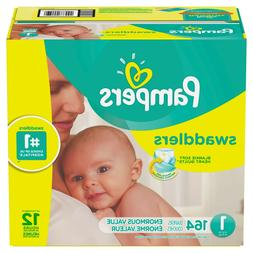 Pampers Baby Swaddlers Newborn Diapers Size 1,164 Count- New
