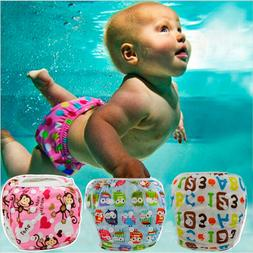 Baby Swim Diapers Adjustable Waterproof Reusable Children Ki