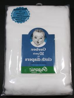 GERBER Baby Unisex 10-Pk. Flat Certified Oeko-Tex Organic Co