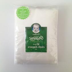 GERBER Baby Unisex 10-Pk. Folded Certified Oeko-Tex Organic