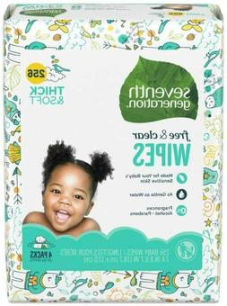 Seventh Generation Baby Wipes - 256 CT  Total 1024 Wipes