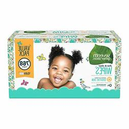 Seventh Generation Baby Wipes, Free & Clear Unscented and Se