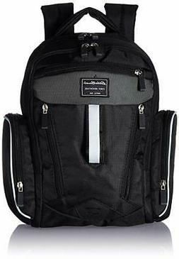 Eddie Bauer Sport Back Pack Diaper Bag, Black/White
