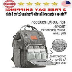 KeaBabies Backpack Diaper Bag Large  Multi Function Waterpro