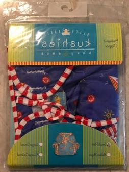 Kushies Beach Babies Swimsuit Diaper Size Small Multicolor N
