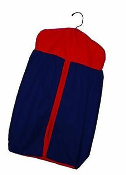 Baby Doll Bedding Reversible Diaper Stacker Navy/Red, New
