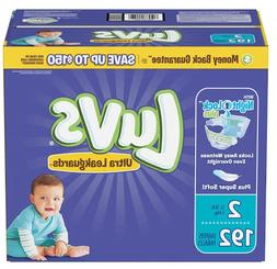 Best Luvs Disposable Diapers, Size 2  - 192 count, Wet Lock
