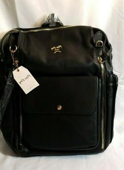 Miss Fong Black Diaper Bag Backpack C6