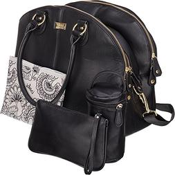 black diaper bags 3 compartments