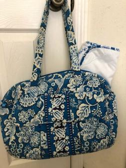 Vera Bradley BLUE LAGOON Baby Bag Diaper Changing Pad Purse