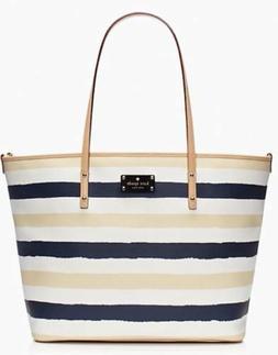 KATE SPADE Bondi Road Harmony Baby Diaper Bag Striped Navy/C