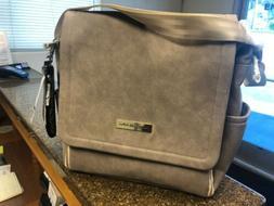 Petunia Pickle Bottom Boxy Baby Diaper Bag Backpack Grey Mat