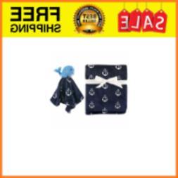 HUDSON BABY BOYS PLUSH BLANKET & SECURITY BLANKET SET 30 X 3