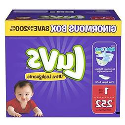 Branded Luvs Ultra Leakguards Newborn Diapers Size 1, 252 ct