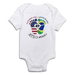 CafePress Brazilian American Baby Cute Infant Bodysuit Baby