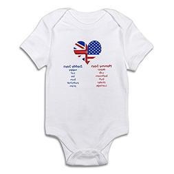 CafePress British American Translations Cute Infant Bodysuit