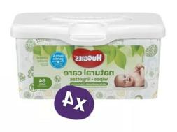 Bulk Pack 4x Huggies Natural Care Wet Baby Wipes Diaper 64 C